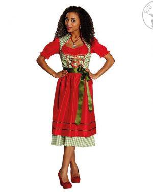 Kmečka-obleka-rdeče-zelena
